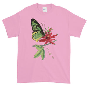 Birdwing Butterfly on Flower Adult Unisex T-shirt