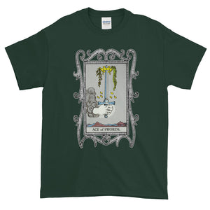 Ace of Swords Tarot Card Unisex Adult T-shirt