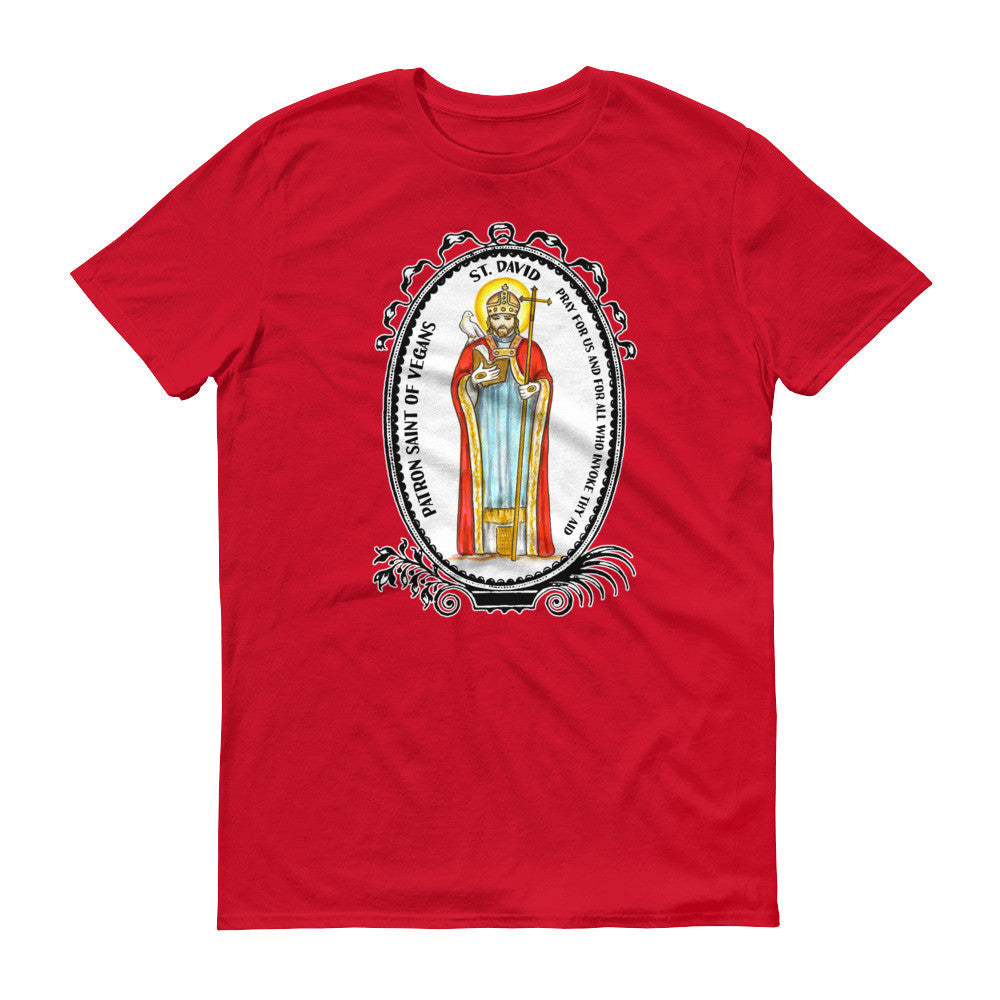 Saint David Patron of Vegans Unisex T-shirt