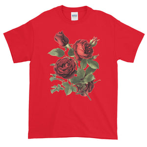Red Garden Roses Adult Unisex T-shirt