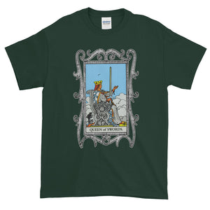 Queen of Cups Swords Card Unisex Adult T-shirt