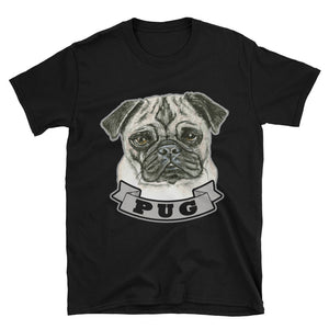 Pug Dog Portrait Unisex T-Shirt
