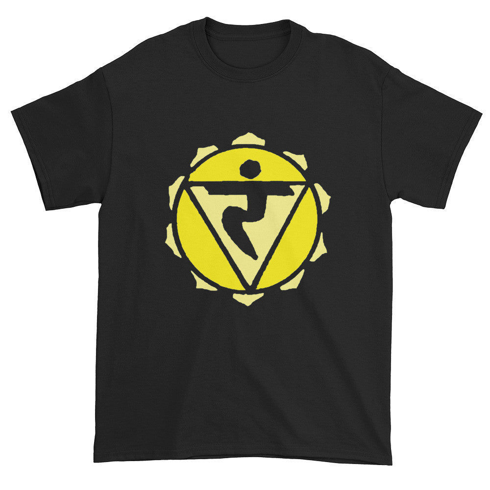 3rd Chakra Manipura for Intuition Unisex Black T-shirt