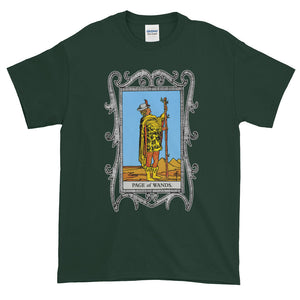 Page of Wands Tarot Card Unisex Adult T-shirt