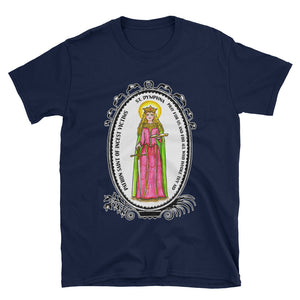 St Dymphna Patron of Incest Victims Unisex T-Shirt