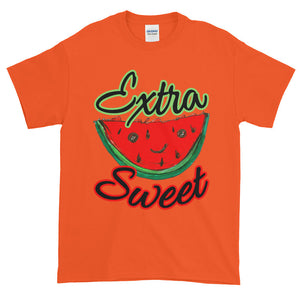Extra Sweet Whimsical Watermelon Adult Unisex T-shirt