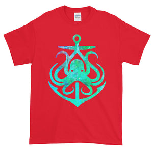 Octopus Anchor Nautical Adult Unisex T-shirt