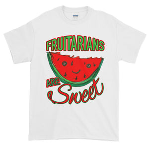 Fruitarians are Sweet Whimsical Watermelon Adult Unisex T-shirt