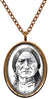 Sitting Bull Lakota Holy Medicine Man Native American Indian Stainless Steel Pendant Necklace
