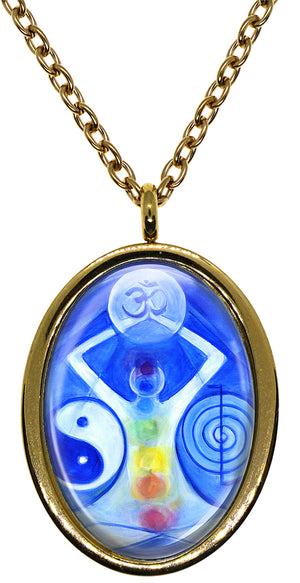 My Altar Reiki Chakra & Manifestation Power Stainless Steel Pendant Necklace