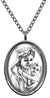 Blessed Virgin Mary Mother with Baby Jesus Stainless Steel Pendant Necklace