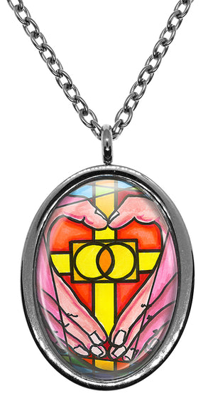 My Altar Sati Grid Reiki for Love & Relationships Stainless Steel Pendant Necklace