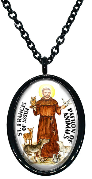 My Altar Saint Francis of Assisi Patron of Animals Stainless Steel Pendant Necklace