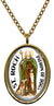 My Altar Saint Roch Patron of Dogs Stainless Steel Pendant Necklace