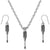 Screwdriver Tool Charms Steel Chain Necklace and Hypoallergenic Titanium Earrings Set