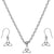 Mini Triquetra Charm Steel Chain Necklace and Hypoallergenic Titanium Earrings Set