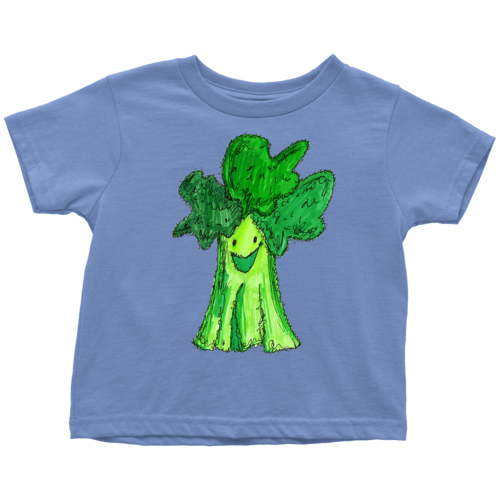 Cute Whimsical Broccoli Toddler T-Shirt