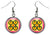 Adinkra Me Ware Wo for Marriage & Commitment Silver Hypoallergenic Steel Earrings