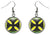 Adinkra Mmsuyidee  to Replace Bad for Good Luck Silver Hypoallergenic Steel Earrings
