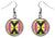 Adinkra Mmere Dane for Time Changes Silver Hypoallergenic Steel Earrings