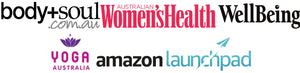 Featured in publications - body and soul, Women's Health, Wellbeing Magazine, Yoga Australia and Amazon Launchpad