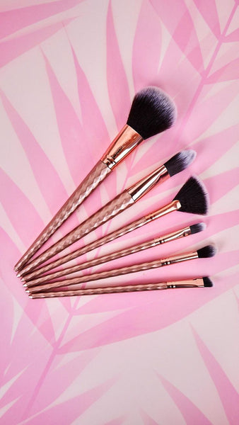 Rose Gold 6 Piece Brush Set