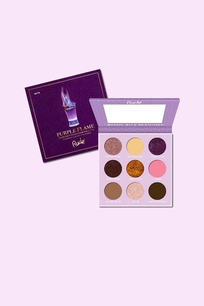 Cocktail Party 9 Color Eyeshadow - Purple Flame