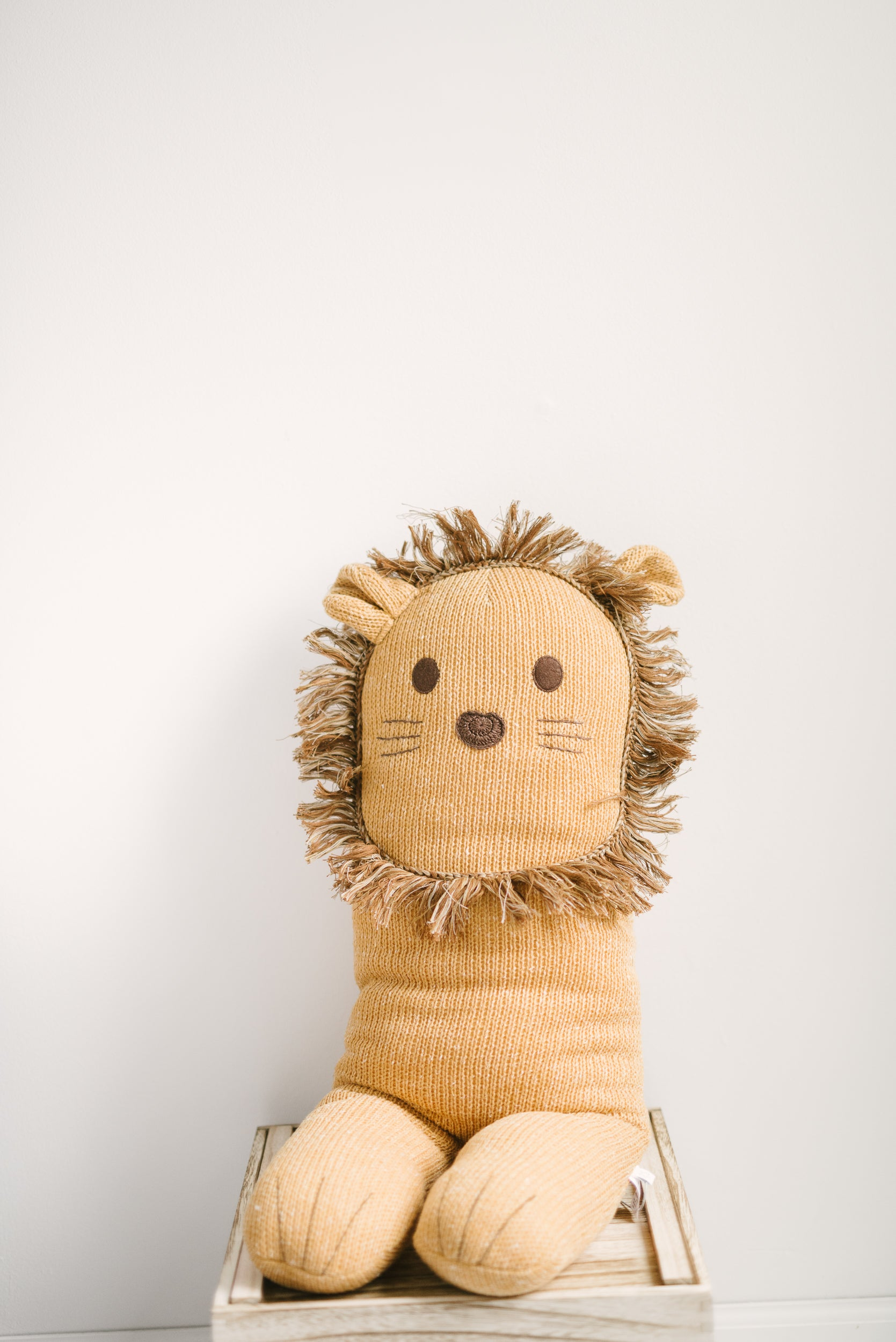 knit lion friends