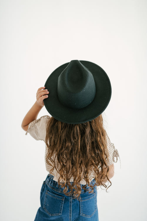 WESTERN WOOL HAT - BLACK