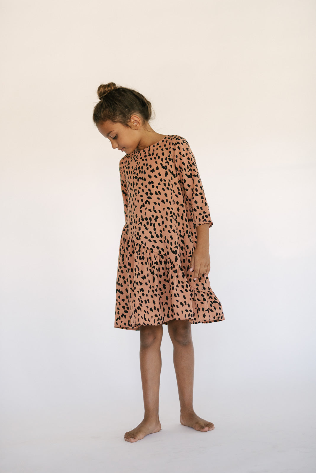 LEOPARD ASYMMETRICAL DRESS