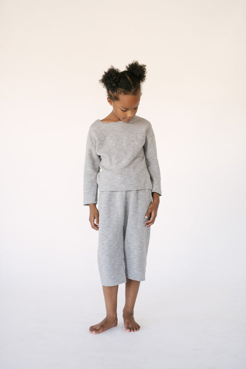 SLUB KNIT LOUNGE SET