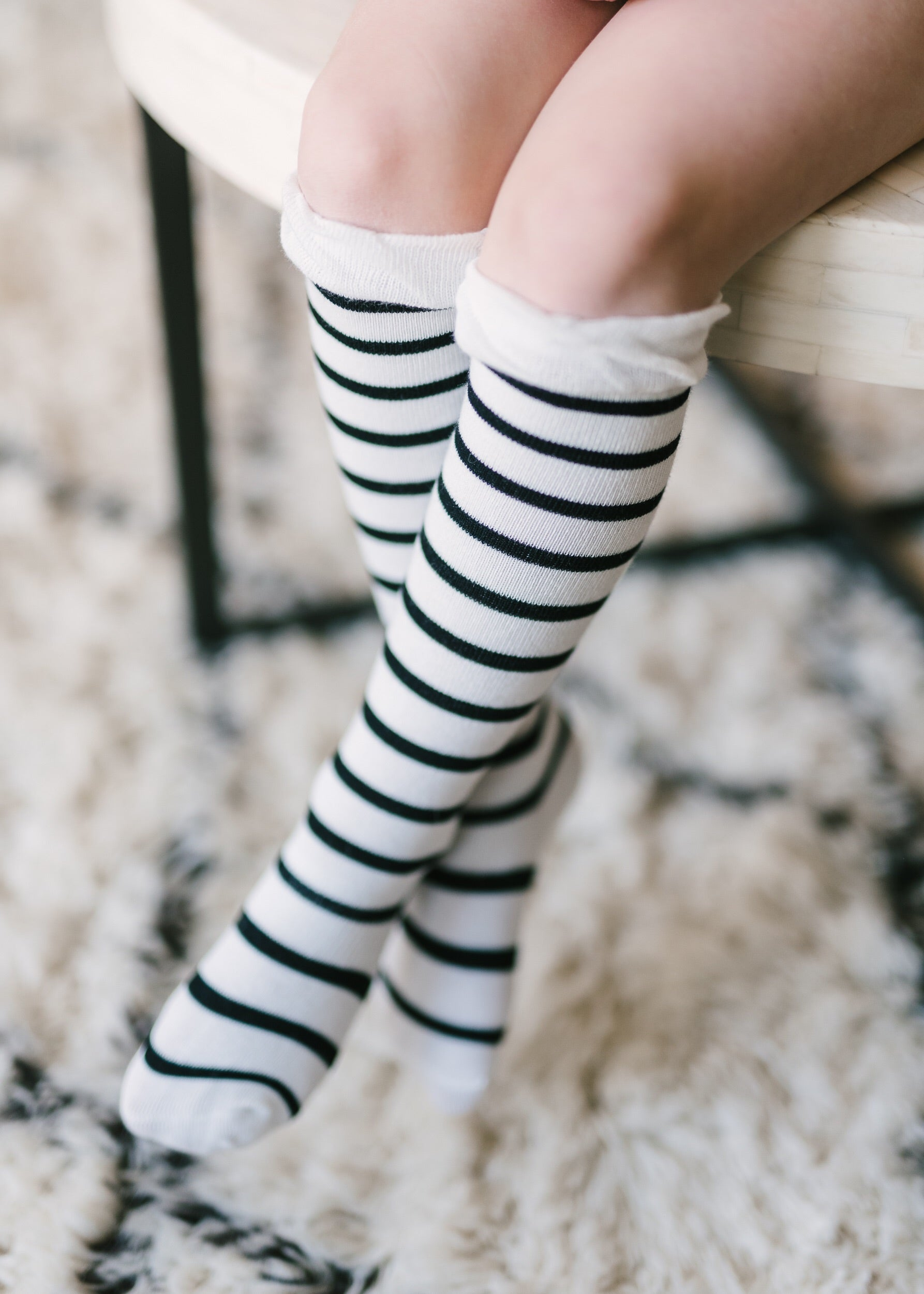 striped knee high