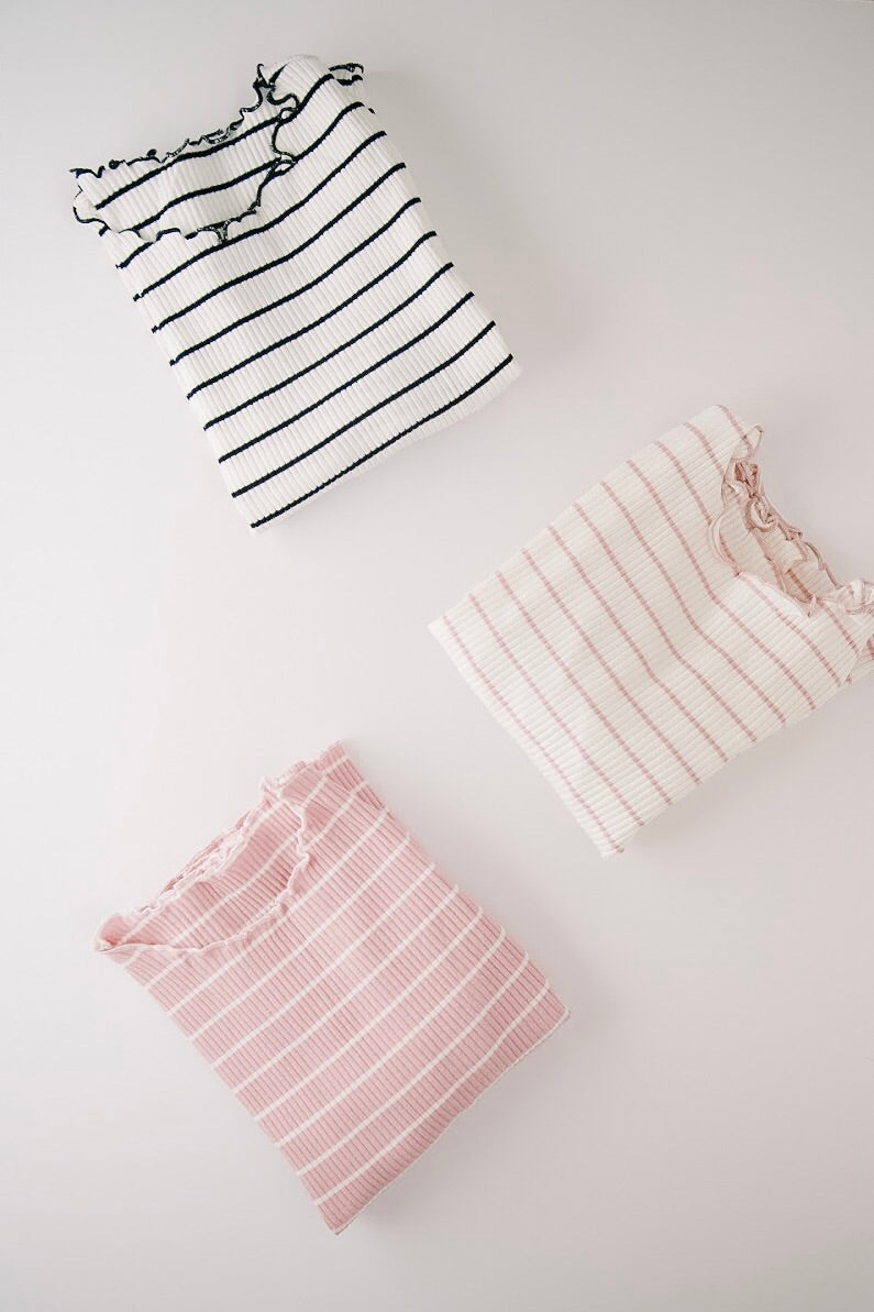 thin stripe ribbed top