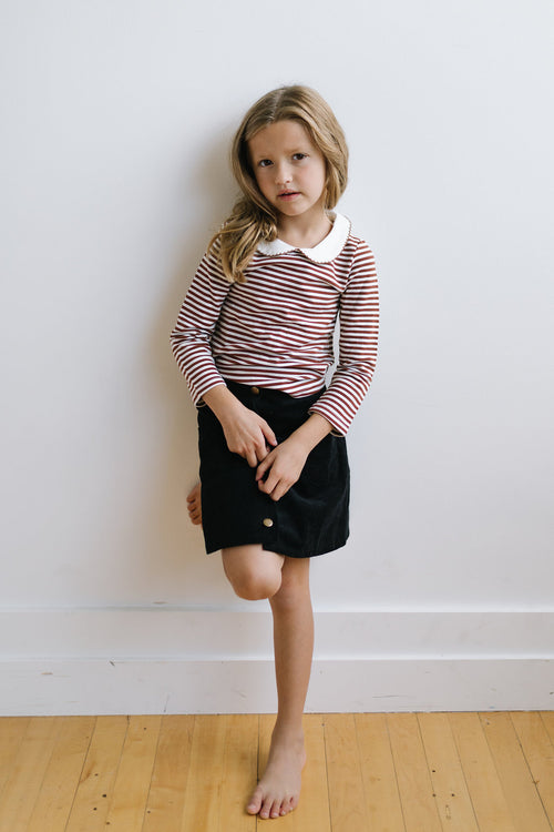 STRIPED PETER PAN TOP