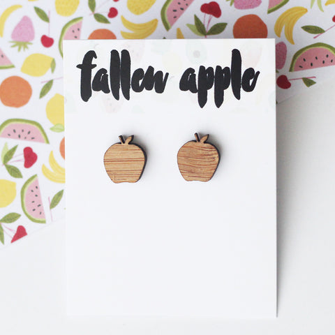 apple studs bamboo by fallen apple