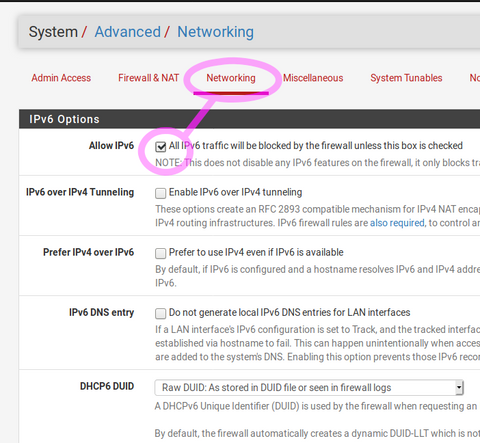 Advanced Network Settings for Telstra IPv6