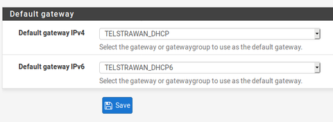 Setting Default Gateway