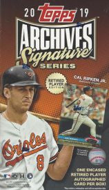 2019 Topps Archives Signature Series Retired Edition Hobby Box