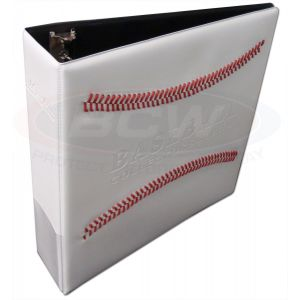 BCW 3 Inch White Stitch Baseball Collectors Album