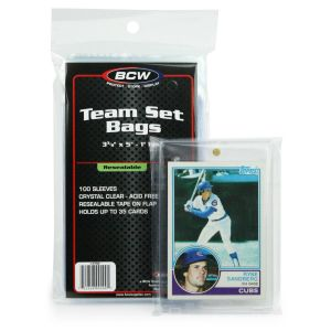 BCW Resealable Team Set Bag 100 Pack