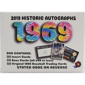 "2019 Historic Autographs ""1969"" Multi Hobby Box"