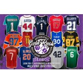 PICK YOUR SPORT! 1 BOX GOLD RUSH MULTI SPORT JERSEY