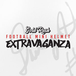 2020 GOLD RUSH Extravaganza Autographed Football Mini Helmet Box