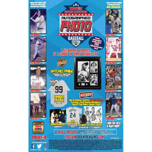 2020 Tristar Hidden Treasures Autographed Baseball Photo Hobby Box