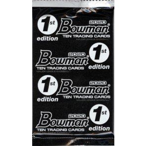 1 PACK 2020 BOWMAN BASEBALL 1ST EDITION PACK