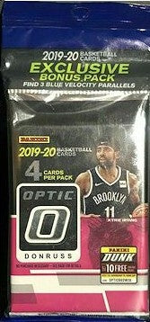2019-20 Donruss Optic Basketball Multi Cello Pack w/ 3 Blue Velocity