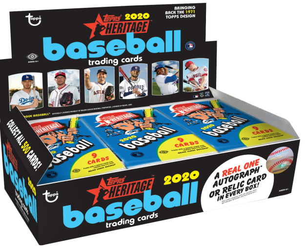 2020 Topps Heritage Baseball Hobby Box SHIP SEALED ONLY