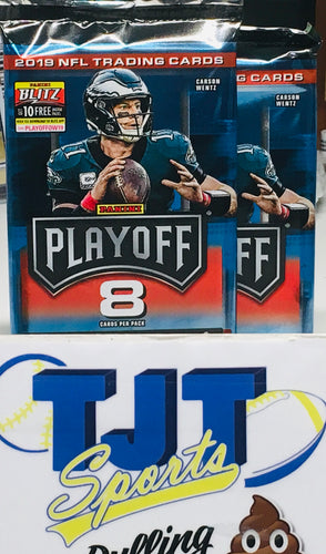 2 PACK LOT 2019 PLAYOFF FOOTBALL HOBBY