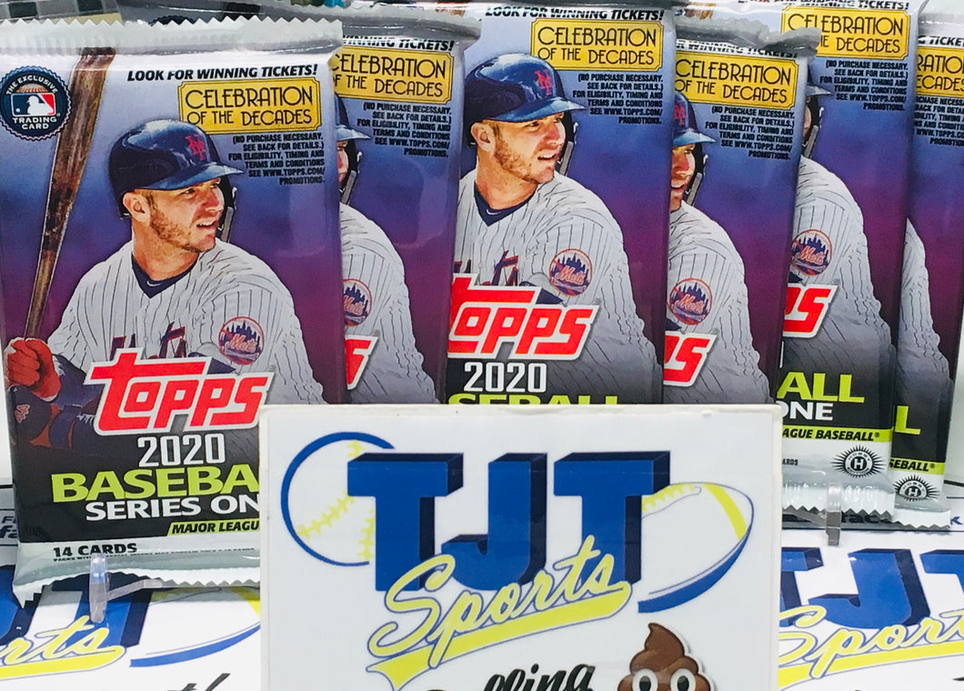 6 PACK LOT 2020 TOPPS SERIES 1 BASEBALL HOBBY