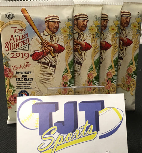 4 PACK LOT 2019 TOPPS ALLEN & GINTER HOBBY